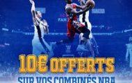 Pariez en combiné sur la NBA avec France-Pari.fr du 21 au 26 mars : Jusqu'à 100 euros offerts