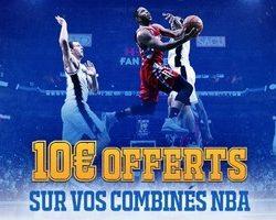 Pariez en combiné sur la NBA avec France Pari du 21 au 26/03