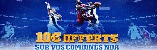 Jusqu'à 100€ offerts par France Pari sur la NBA
