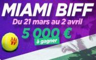 Pariez sur le Masters de Miami avec Winamax du 21 mars au 2 avril 2017 : Jackpot de 5.000€ mis en jeu
