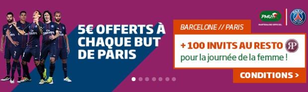 5€ offerts par PMU à chaque but parisien pour Barça-PSG en LDC
