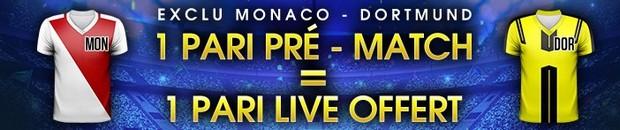 Ligue des Champions Monaco/Dortmund sur NetBet