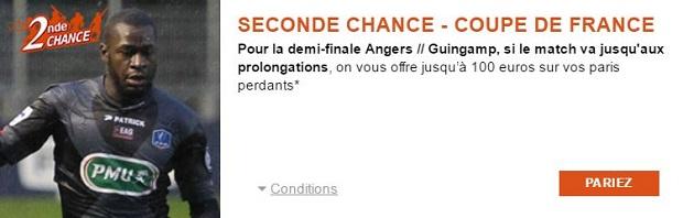 Jusqu'à 100 euros remboursés sur PMU si le match de CdF Angers/Guingamp va aux prolongations
