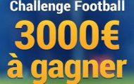 Challenge Foot sur France-Pari.fr du 7 au 17 avril 2017 : 3.000€ à partager entre les 30 meilleurs parieurs