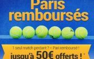 Misez en combiné sur le tennis avec France-Pari.fr du 17 au 23 avril : Jusqu'à 50€ offerts sur vos paris perdants