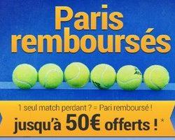 France Pari offre jusqu'à 50€ sur vos paris combinés 100% tennis