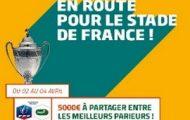Pariez en combiné sur les 1/4 de finale de la Coupe de France de foot avec PMU.fr : 5.000€ à partager