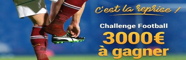 3.000€ mis en jeu sur France Pari pour le Challenge football