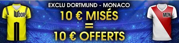 Misez en live sur le quart de finale aller de LdC Dortmund/Monaco avec Netbet