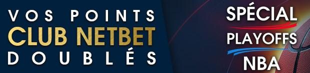 NetBet double vos points fidélité sur vos paris sur les Playoffs de NBA