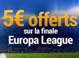 France Pari vous offre 5€ sur la finale de la Ligue Europa 2017
