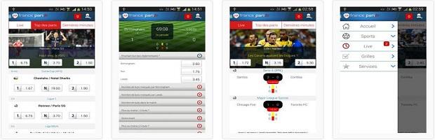 Application mobile France Pari pour Android