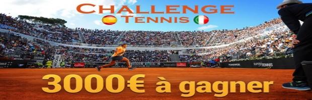Pariez sur le tennis du 8 au 21 mai 2017 avec France Pari