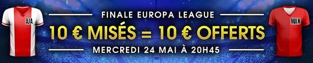 10€ offerts par Netbet pour Ajax Amsterdam-Manchester United