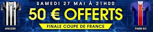 50€ offerts par NetBet pour Angers-PSG en finale de la Coupe de France