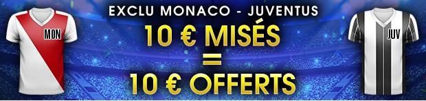 10€ offerts par NetBet sur Monaco-Juventus Turin en Ligue des Champions