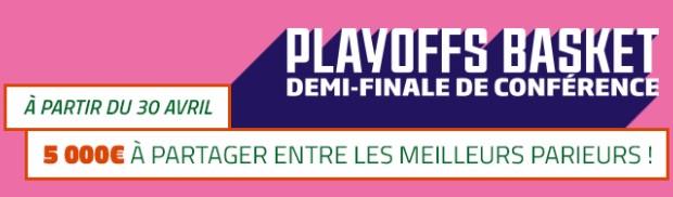 5.000€ mis en jeu par PMU sur les 1/2 finales de conférence des Playoffs de NBA