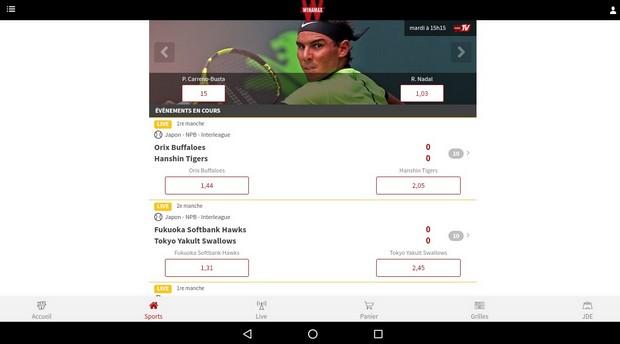 T l charger les application winamax pour le sport ou le for Application miroir pour ipad