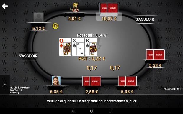Jouez partout au poker avec l'appli Winamax