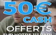 Code promo Parionsweb FDJ Sport : 50 euros offerts sur vos paris sportifs