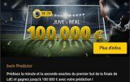 Découvrez quand sera marqué le 1er but de Juve/Real en finale de LdC sur Bwin : 100.000€ à partager