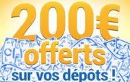 Déposez de l'argent sur votre compte France Pari du 24 juin au 9 juillet 2017 : Jusqu'à 200€ offerts