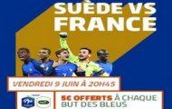Pariez sur Suède-France le vendredi 9 juin 2017 avec PMU.fr : 5€ offerts par but inscrit par les Bleus