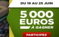 Pariez avec Betclic.fr sur les matchs de tennis du 19 au 25 juin 2017 : 5.000€ en jeu + des tickets de poker