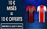 Pariez en pré-match sur Nice/Amsterdam en LDC avec NetBet et profitez de 10€ offerts pour miser en Live
