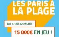 """Pariez sur le sport depuis l'appli mobile PMU du 17 au 30 juillet pour """"Les paris à la plage"""" : 15.000€ à partager"""