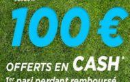 Code promo Parionsweb FDJ Sport : 100 euros cash offerts sur vos paris sportifs