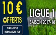 Misez sur le match de L1 chaque dimanche soir de la saison 2017/2018 sur NetBet : 10€ de bonus offerts