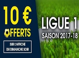 Jusqu'à 10 euros offerts le dimanche avec NetBet sur la Ligue 1 de foot