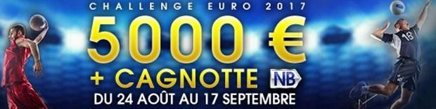 Dotation de 5.000 euros + 1 cagnotte NB à partager sur NetBet los de l'Euro de volley et de basket