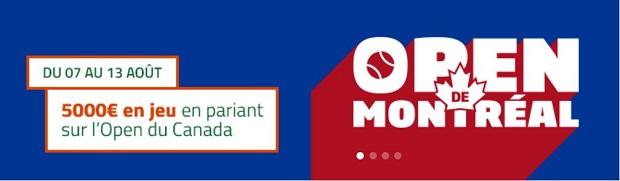 Jackpot de 5.000 euros à partager sur PMU pour l'Open de Montreal