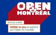 Masters 1.000 de Montréal 2017 sur PMU.fr du 7 au 13 août : cagnotte de 5.000€ à partager