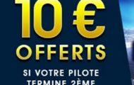 Pariez sur la F1 avec NetBet jusqu'au 26 novembre 2017 : 10€ remboursés si votre pilote termine à la 2ème place
