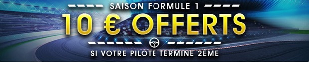 10€ offerts à chaque course de F1 pour la saison 2017 sur NetBet