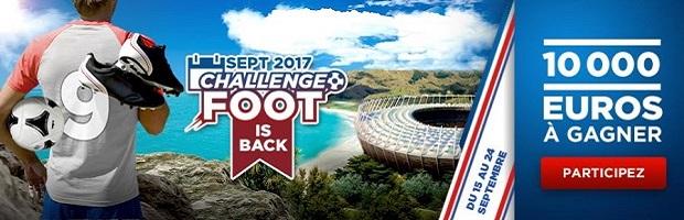 Misez sur le foot du 15 au 24 septembre 2017 avec Betclic