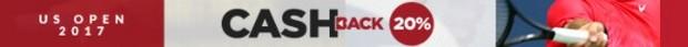 Cashback de 20% sur vos paris sur l'US Open 2017 avec ZEbet