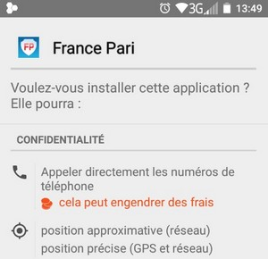 Android France-Pari payant