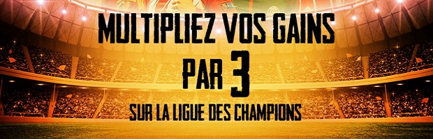 Remportez jusqu'à 100 € sur la Champions League avec France Pari du 31/10 au 3/11