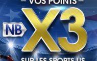 Sports américains sur NetBet : Vos points X3 sur la NBA, NHL, MLB, MLS et NFL durant la saison 2017/2018