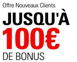 Jusqu'à 100€ de bonus de bienvenue offerts sur BetStars.fr