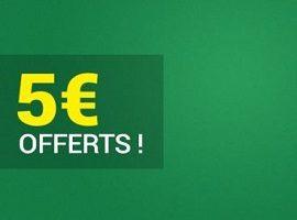 Récupérez 5€ sur vos combinés perdant le 22 et 23 novembre sur Unibet
