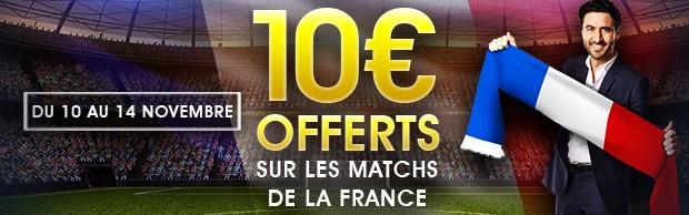 10€ offerts par NetBet sur Allemagne-France le 14 novembre 2017