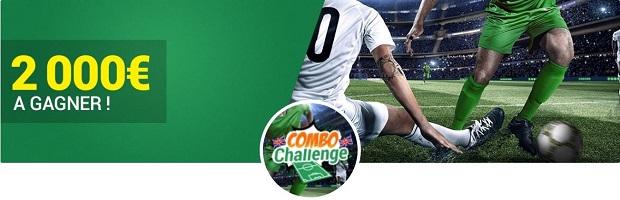 Jusqu'à 500€ de bonus cash à remporter sur Unibet pour le challenge combo