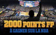 Pariez en combiné sur la NBA avec France Pari : entre 250 et 2000 pts FP offerts du 3 au 8 janvier 2018