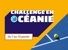 Challenge Océanie de tennis du 7 au 13 janvier 2018 avec PMU