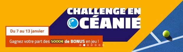 Dotation de 5.000€ à partager en janvier sur PMU grâce à vos paris tennis